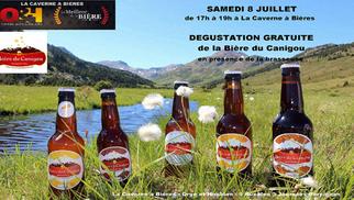 Caverne à Bières Perpignan offre une dégustation de la Bière du Canigou le 8 juillet de 17h à 19h en présence de la brasserie.