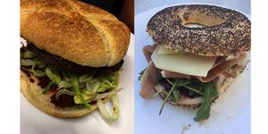 Eden Bio Perpignan Restaurant présente ses nouveautés de Juillet en burger et bagels.