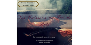 Michel Roger Saleilles Restaurant et traiteur propose des Grillades au feu de bois tous les week-ends de 8h à 13h.