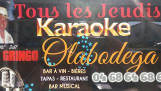 Ola Bodega Perpignan propose du Karaoké les Jeudis soirs avec El Gringo.