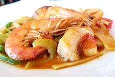 C WOK Claira est un Buffet asiatique à volonté. Ici un plat cuisiné au wok (® SAAM D.Gontier)