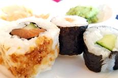 C WOK Claira propose un Buffet asiatique à volonté. Ici des sushis (® SAAM D.Gontier)
