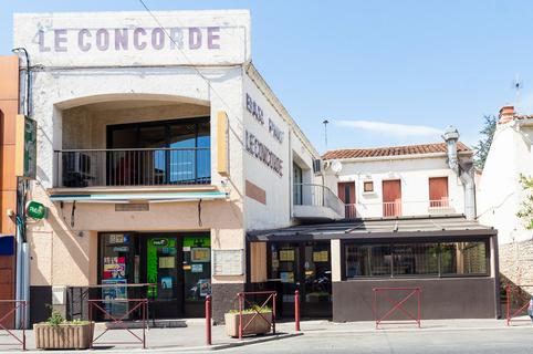 Le Concorde Saint Estève restaurant et bar en centre-ville (® SAAM-bruno Aguje)